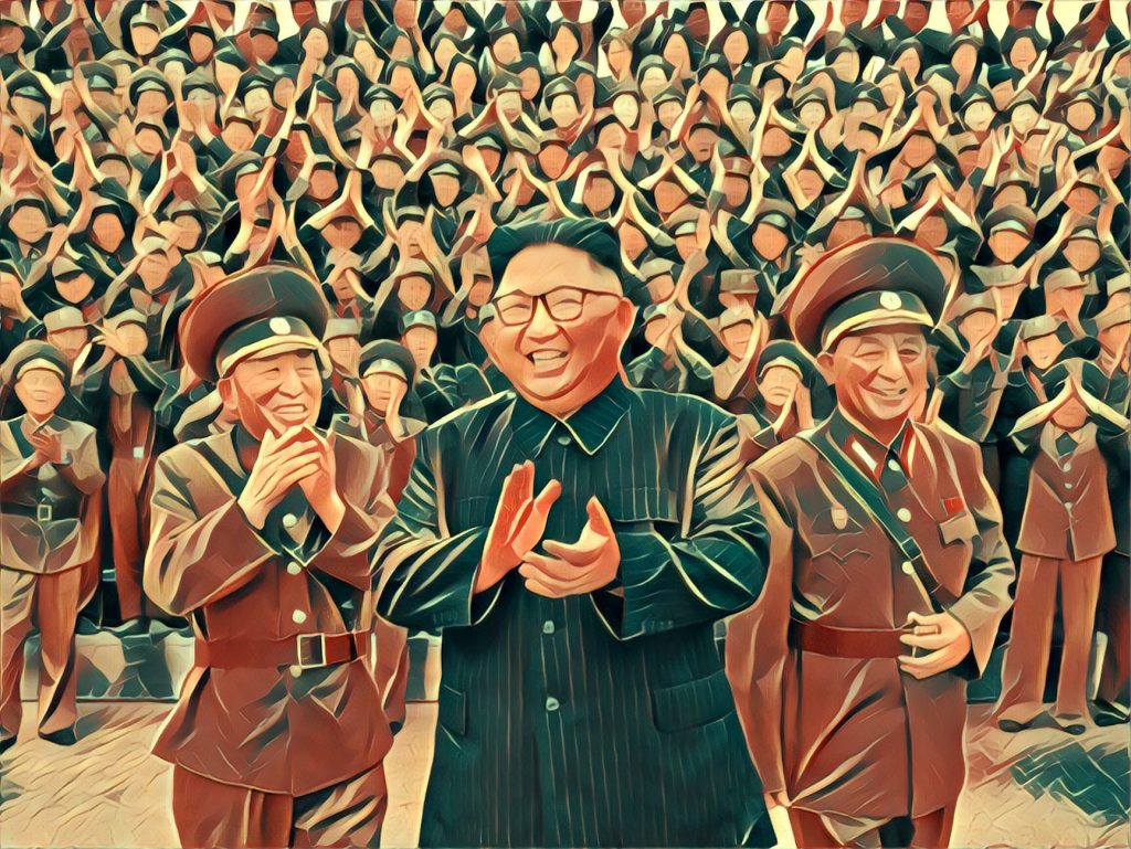 Stylized image of Kim Jung-un